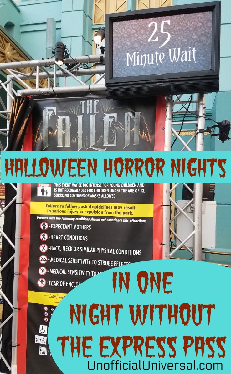 HHN in One Night Without an Express Pass - Unofficial ...