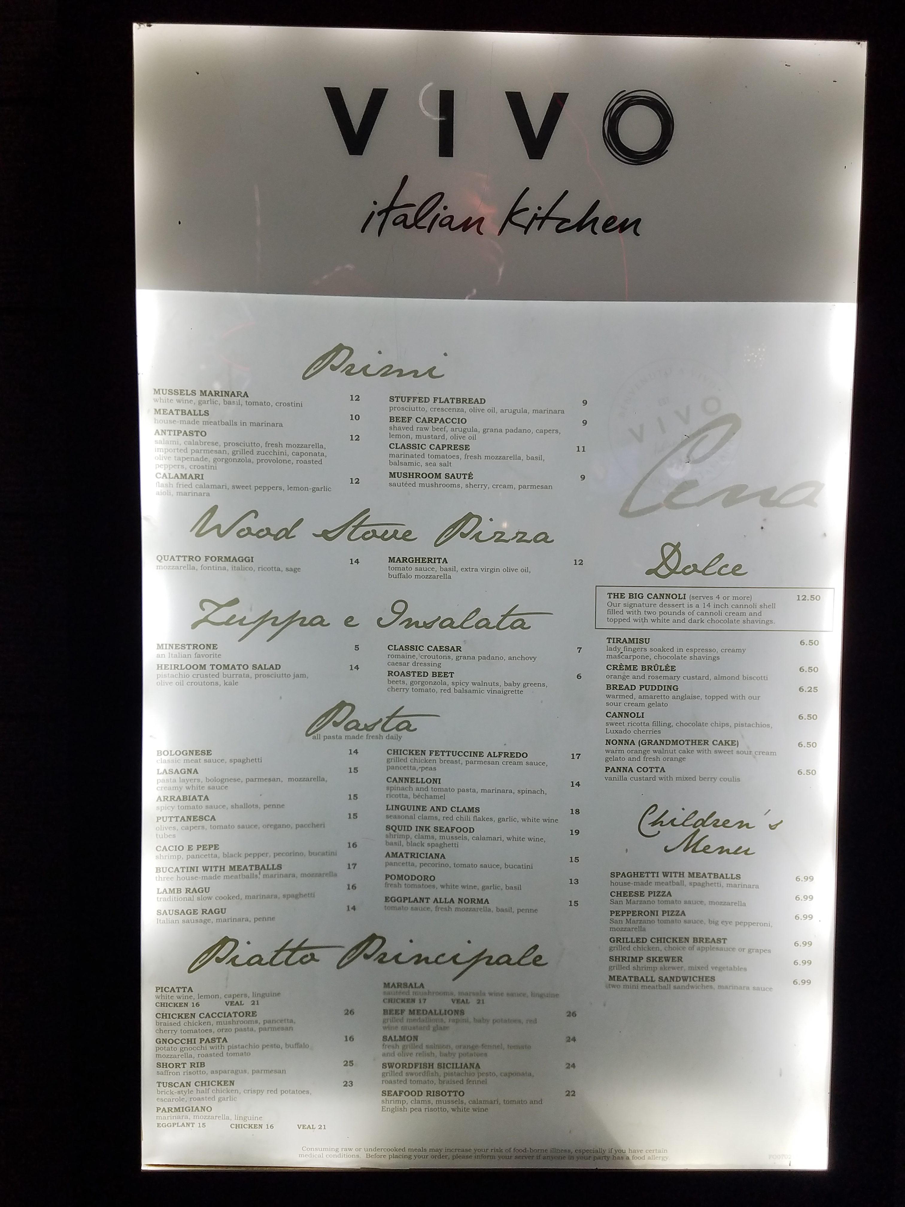 Dining Review Of Vivo Italian Kitchen In Citywalk